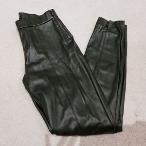 Zara Leather leggings